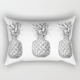 Pineapple, tropical fruit illustration Rectangular Pillow