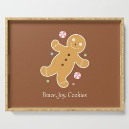 Peace, Joy, Cookies Serving Tray