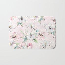 Shabby Spring Blooms Bath Mat