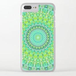 Green Geometric Mandala 0118 Clear iPhone Case