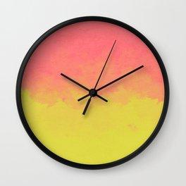 Peach Lime Ombré Wall Clock