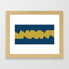 Honeycomb Blue Framed Art Print