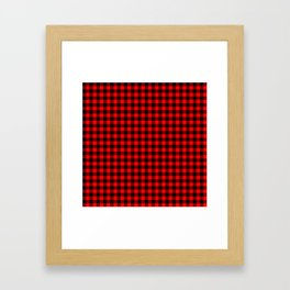 Mini Red and Black Coutry Buffalo Plaid Check Framed Art Print