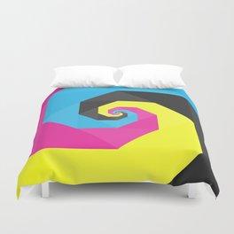 CMYK triangle spiral Duvet Cover