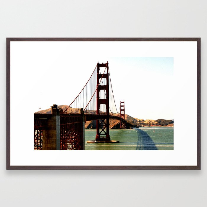 San Francisco - Golden Gate Bridge Framed Art Print
