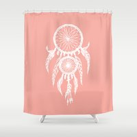 dreamcatcher Shower Curtains featuring Dreamcatcher by Simply Prints