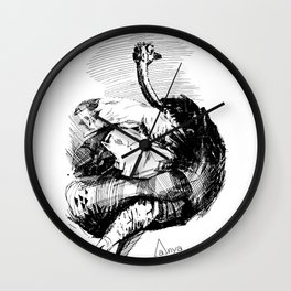Camel-bird Wall Clock