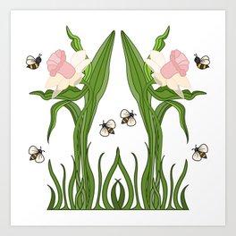 Buzzed Daffodils Art Print