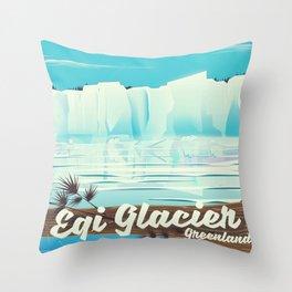 Eqi Glacier Greenland. Throw Pillow