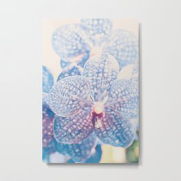 Abstract Orchid Flower Metal Print