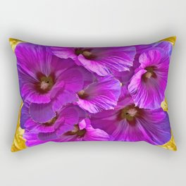 golden art purple garden bouquet art Rectangular Pillow