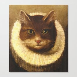 Cat In A Ruff Cute Victorian Art Canvas Print