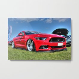 Red Mustang HDR Metal Print