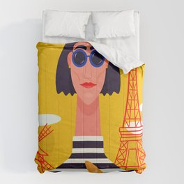 I Love Paris Comforters