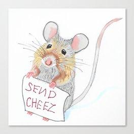 Send Cheese Canvas Print