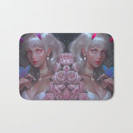 White Goth Twins Bath Mat