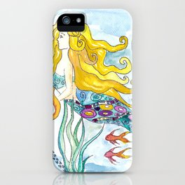 The Blonde Mermaid iPhone Case