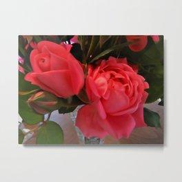 Pink Roses WC Metal Print