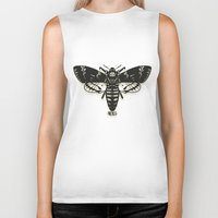 moth Biker Tanks featuring Moth by Nick Rissmeyer