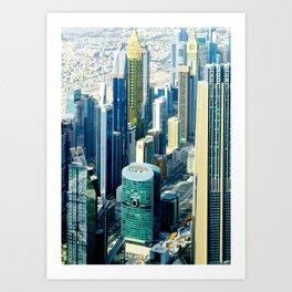 Dubai cityscape Art Print