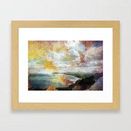 Killiney Gold Framed Art Print