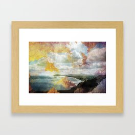 Killiney Gold Framed Art Print