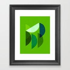 Wedges Framed Art Print