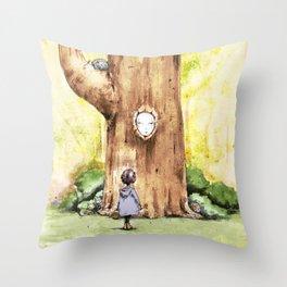 A Curious Quercus Throw Pillow