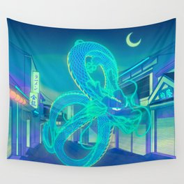 Neon Dragon Wall Tapestry