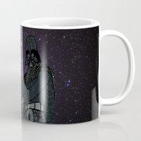 darth vader Mugs featuring Darth Vader  by Rebecca Bear
