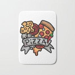 Heart Pizza Love Italy Salami cheese gift Bath Mat