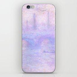 "Claude Monet ""Waterloo Bridge, Effect of Fog"" iPhone Skin"