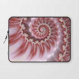 Candy Cane Fiesta - Fractal Art Laptop Sleeve