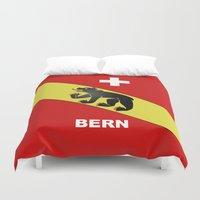 switzerland Duvet Covers featuring Bern City Of Switzerland by insitemyhead