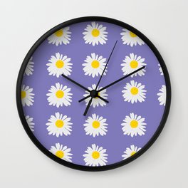 Purple Daises Wall Clock
