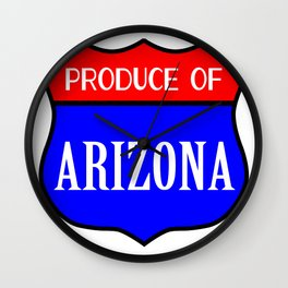 Produce Of Arizona Wall Clock