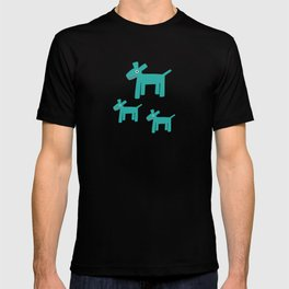 Dogs-Teal T-shirt