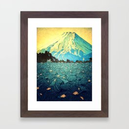 Waddling through Kennijo Lake Framed Art Print