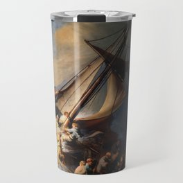 Stolen Painting - The Storm on the Sea of Galilee by Rembrandt Travel Mug