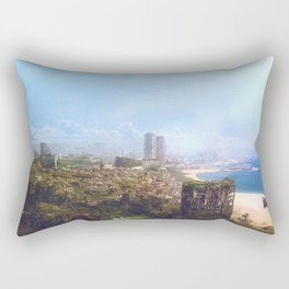 Barcelona Aftermath: La Barceloneta Rectangular Pillow