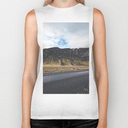 A Mountain on the Left. Iceland Landscape. Roadtrip Travel. Photography. Biker Tank