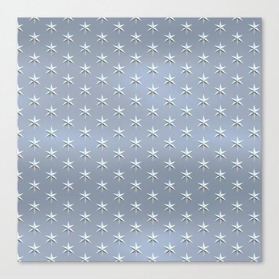 elegant silver star pattern Canvas Print