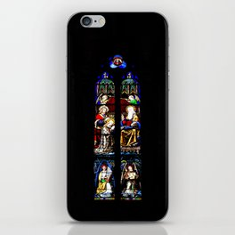 Stained Glass Windows, Beaune Cathedral iPhone Skin