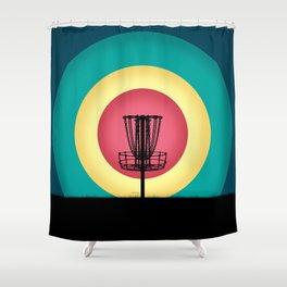 Disc Golf Basket Silhouette Shower Curtain