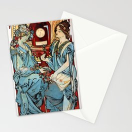 "Alphonse Mucha ""Bénédictine"" Stationery Cards"