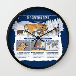 The Wild Ones: Siberian Tiger (info) Wall Clock