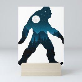 Night Forest Bigfoot Mini Art Print