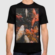 Koi Pond Black Mens Fitted Tee MEDIUM
