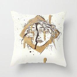 Girl Encased Throw Pillow