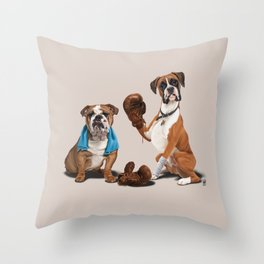 Raging (Colour) Throw Pillow